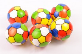 Pack 6 pelotas goma hexagonos colores (1)