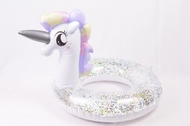 Salvavidas unicornio inflable con brillo 70cm (1)